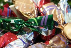 Christmas cookies in cellophane Royalty Free Stock Photos