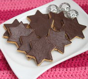 Christmas Cookies with chocolate Royalty Free Stock Photo