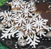 Christmas Cookies with chocolate Stock Image
