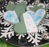 Christmas Cookies with chocolate Stock Photos