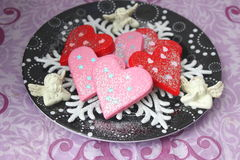 Christmas Cookies with chocolate Stock Photography