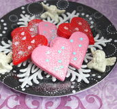 Christmas Cookies with chocolate Stock Photo