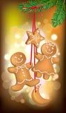 Christmas cookies on the Christmas tree Royalty Free Stock Photos