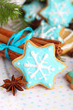 Christmas cookies with cinnamon Stock Images