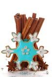 Christmas cookies with cinnamon. royalty free stock photography