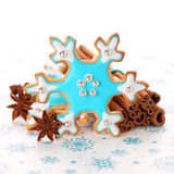 Christmas cookies with cinnamon and anise Stock Photo