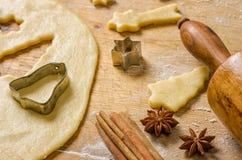 Christmas cookies with cinnamon and star anise Stock Photos