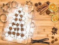 Christmas cookies cinnamon stars spices vanilla cinnamon Royalty Free Stock Photography