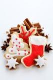 Christmas cookies. With cinnamon sticks Stock Image