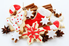 Christmas cookies. With cinnamon sticks Royalty Free Stock Image