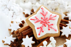 Christmas cookies. With cinnamon sticks Royalty Free Stock Photo