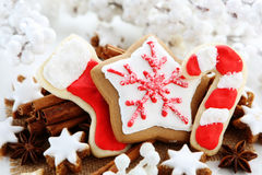 Christmas cookies. With cinnamon sticks Royalty Free Stock Photography