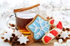 Christmas cookies. With cinnamon sticks Royalty Free Stock Images