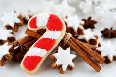 Christmas cookies. With cinnamon sticks Stock Photos