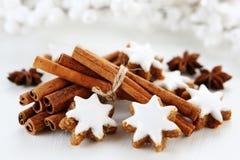 Christmas cookies. With cinnamon sticks Royalty Free Stock Photos