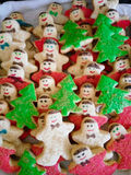 Christmas cookies. A close up of home made Christmas cookies Royalty Free Stock Photos