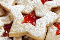 Christmas cookies close up Royalty Free Stock Photos