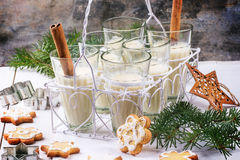 Christmas cookies and cocktail Royalty Free Stock Images