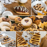 Christmas cookies collage. Collage of several cookie images Stock Photo