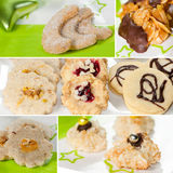 Christmas cookies collage Stock Photo