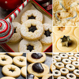 Christmas cookies collage Stock Images