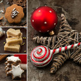 Christmas cookies collage Stock Photos
