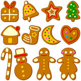 Christmas Cookies Collection Royalty Free Stock Photography