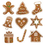 Christmas Cookies Collection Stock Photography