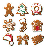 Christmas cookies collection on white Stock Photo