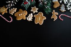 Christmas cookies composition Royalty Free Stock Images
