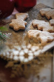 Christmas cookies composition. Christmas composition, cookies and baubles Royalty Free Stock Photo