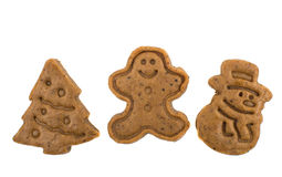 Christmas cookies and cookie cutters. Stock Photography