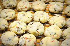 Christmas Cookies on Cooling Rack Stock Images