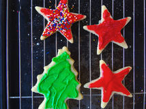 Christmas cookies with copy space Royalty Free Stock Photo