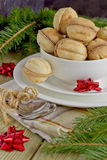 Christmas cookies. In a cup on the table Stock Image