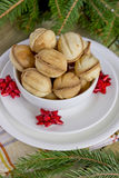 Christmas cookies. In a cup on the table Royalty Free Stock Photography