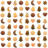 Christmas Cookies Cut Out Variety Stock Images