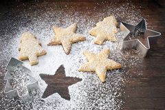 Christmas Cookies Cutters Stock Photography
