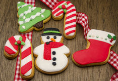 Christmas cookies. Decorated with fondant Royalty Free Stock Photography