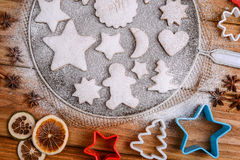 Christmas cookies decorated with powder sugar Stock Photography