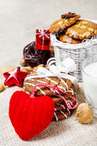 Christmas cookies and decoration Royalty Free Stock Photography