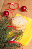 Christmas cookies and decoration Royalty Free Stock Image