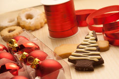 Christmas Cookies with Decorations Stock Images