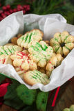 Christmas Cookies. In a decrative box, sitting on a table Stock Images