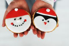 Christmas cookies. Delicious, beautiful, handmade Christmas cookies Stock Photos