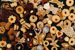 Christmas cookies and desserts Royalty Free Stock Image