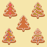 Christmas cookies with different decorations Stock Images