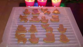 Christmas cookies stock footage