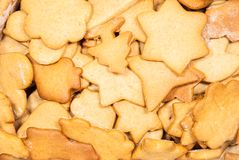 Christmas cookies. In different shapes Stock Image