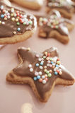 Christmas cookies in different shapes Royalty Free Stock Photos